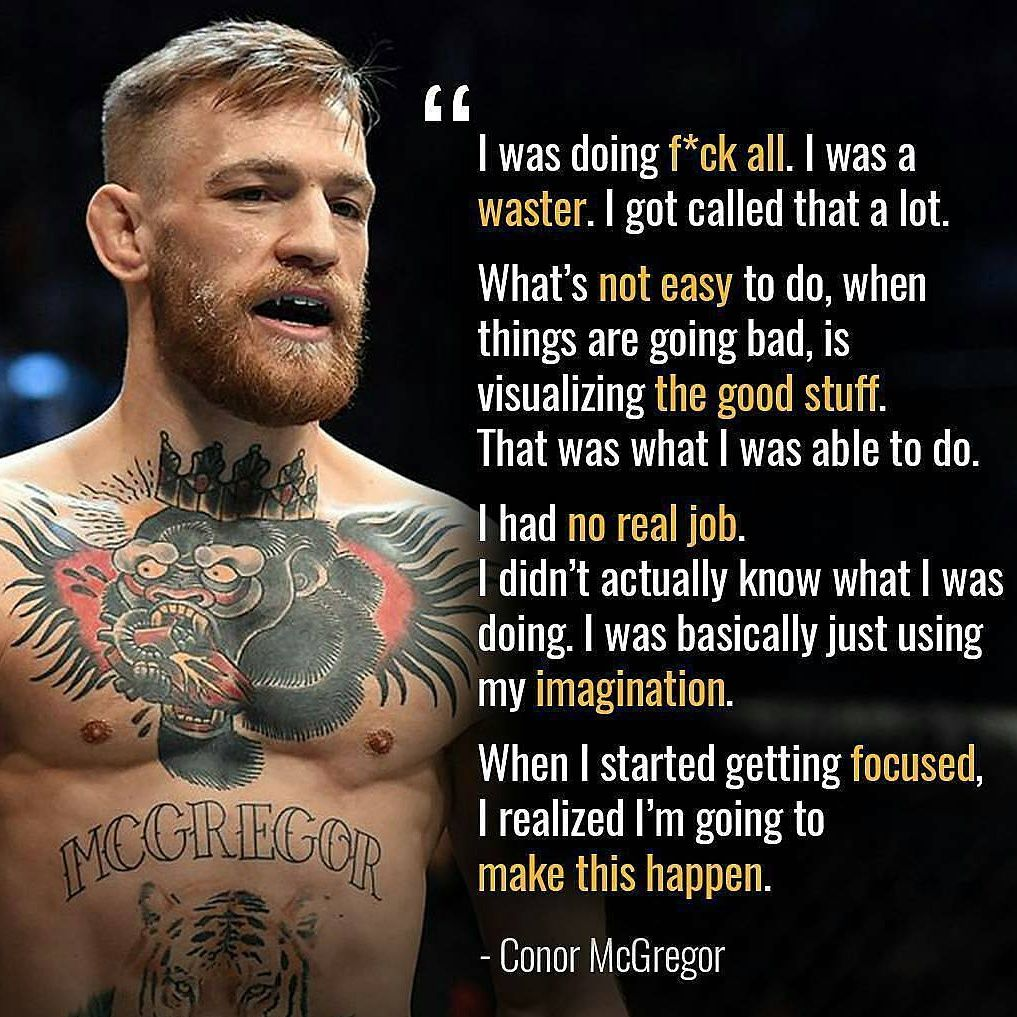 Conor Mcgregor Started From Nothing Now He S One Of The Richest Athletes In The Worl Conor Mcgregor Quotes Tagalog Love Quotes Motivational Quotes For Success