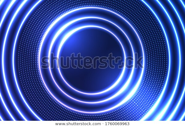 Futuristic Circle Neon Background Glowing Electric Stock Vector Royalty Free 1760069963 Neon Backgrounds Futuristic Background Background