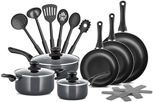 Are you on the lookout for that multi function cookware set that may be stylish, versatile, and stands the test of time?  Look no further than the Chef's Star Professional Grade 15 Piece Cookware Set.