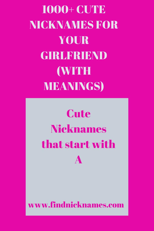 Pin on Nicknames For Girls