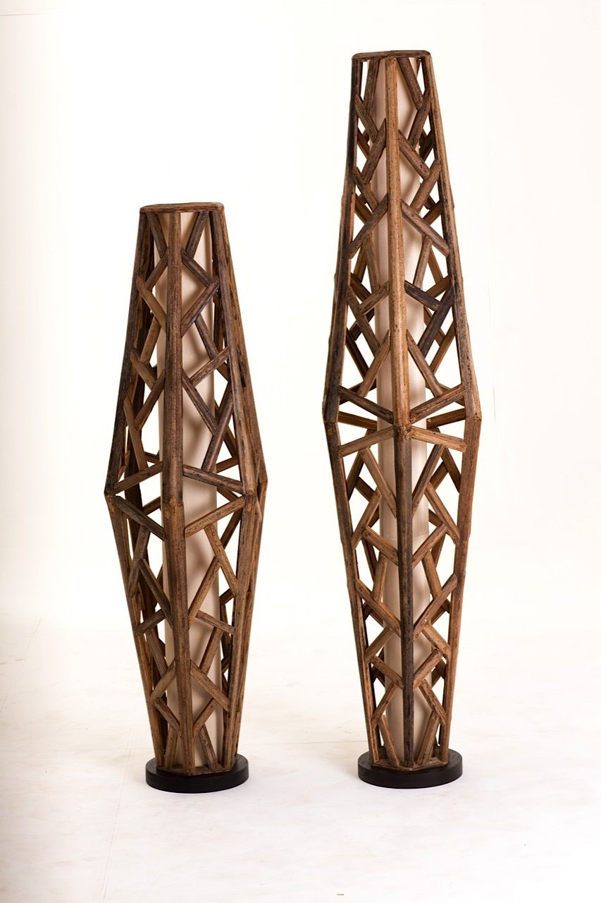 Palawan Floor Lamps by APY Cane | Furniture and Furnishings ...