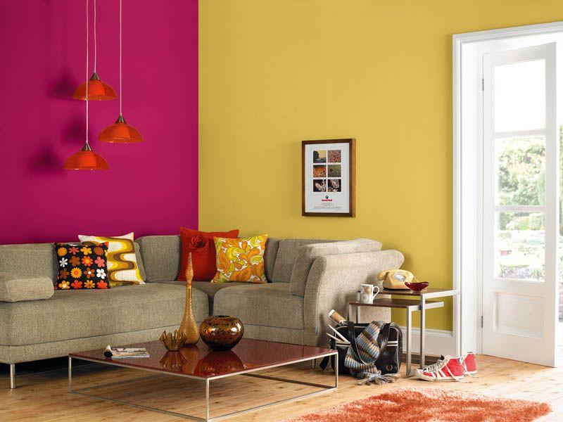 Trend Alert: Colourblock Brights Wall Paint Colors, Room Colors, House  Colors, Living