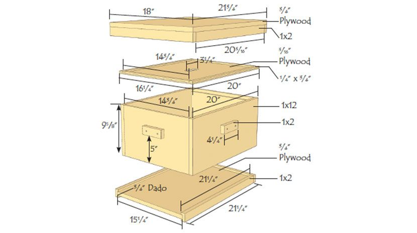 Building A Langstroth Beehive Backyard Bee Bee Hive Langstroth Hive Plans