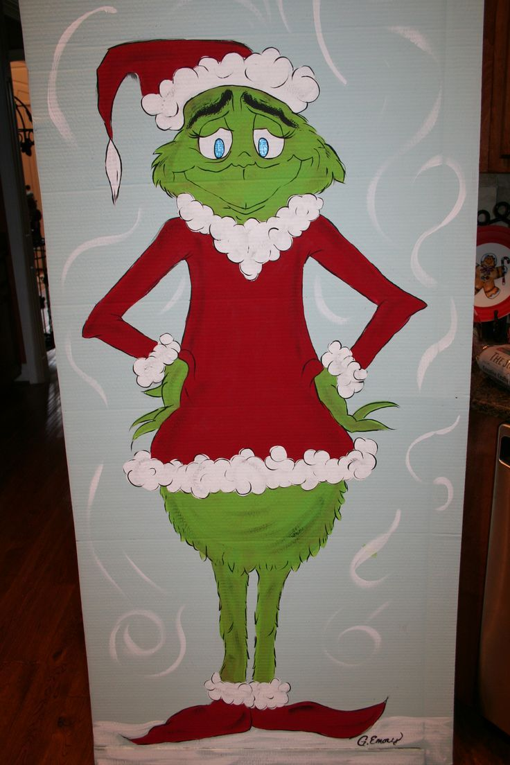 Ideas for grinch christmas decoration grinch christmas Cubicle bulletin board ideas