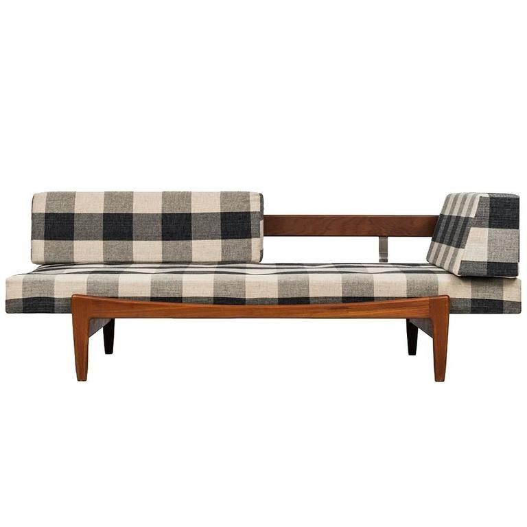 Ib Kofod Larsen Daybed/Sofa By Seffle Möbelfabrik In Sweden | From A Unique