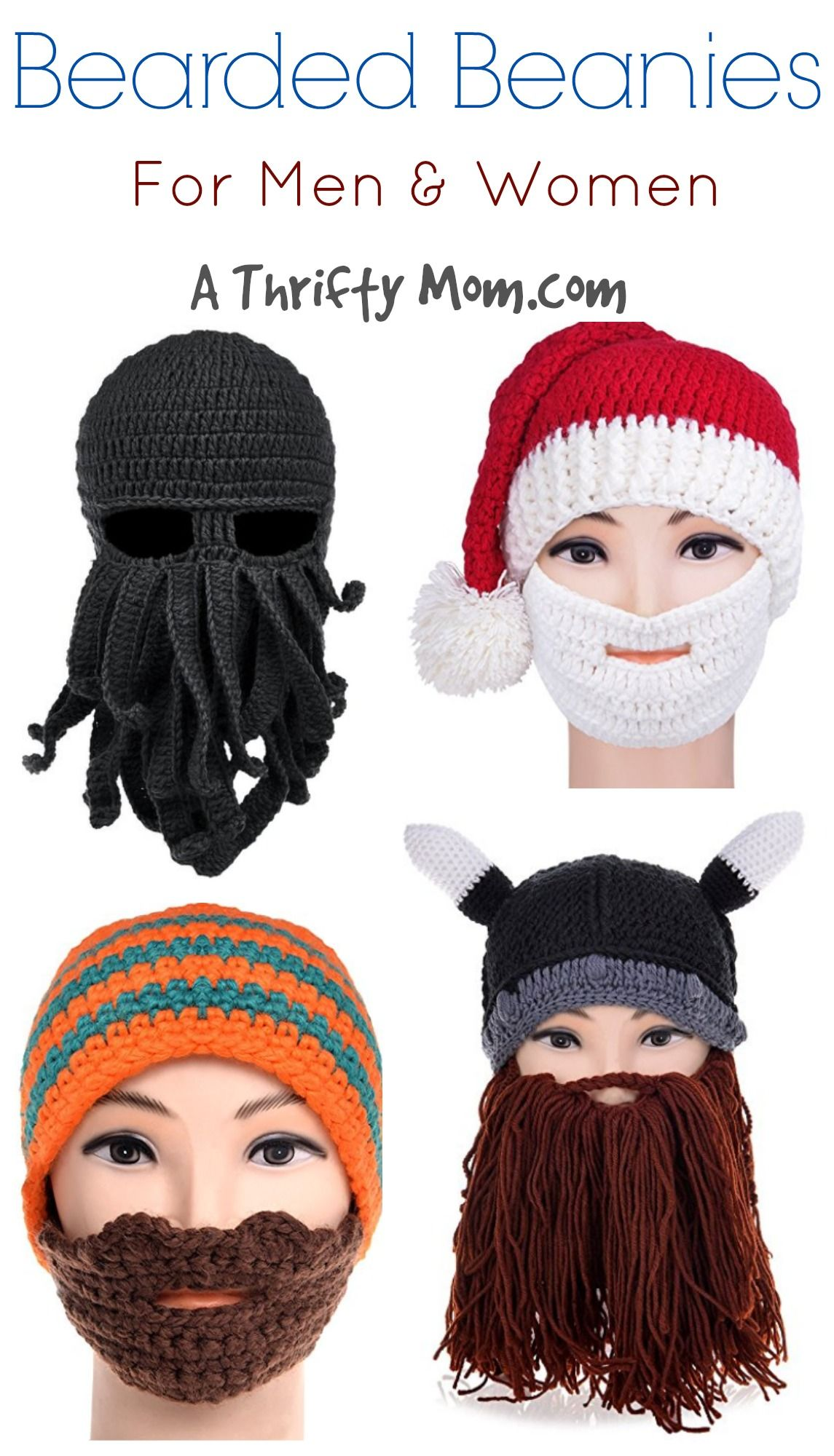 bcbf11732171d These are so funny. beard-beanie-hat-knit-hat-winter-warm-octopus-hat- windproof-funny-for-men-women