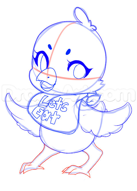 How To Draw Chica From Five Nights At Freddys Step 13 Five Nights