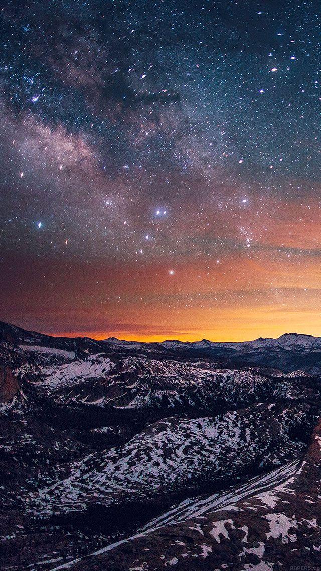 Yosemite HD Mountain iPhone 5 Wallpaper (With