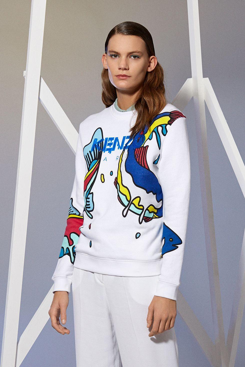 Mens Kenzo Icon tiger sweatshirt white ecru all sizes regular
