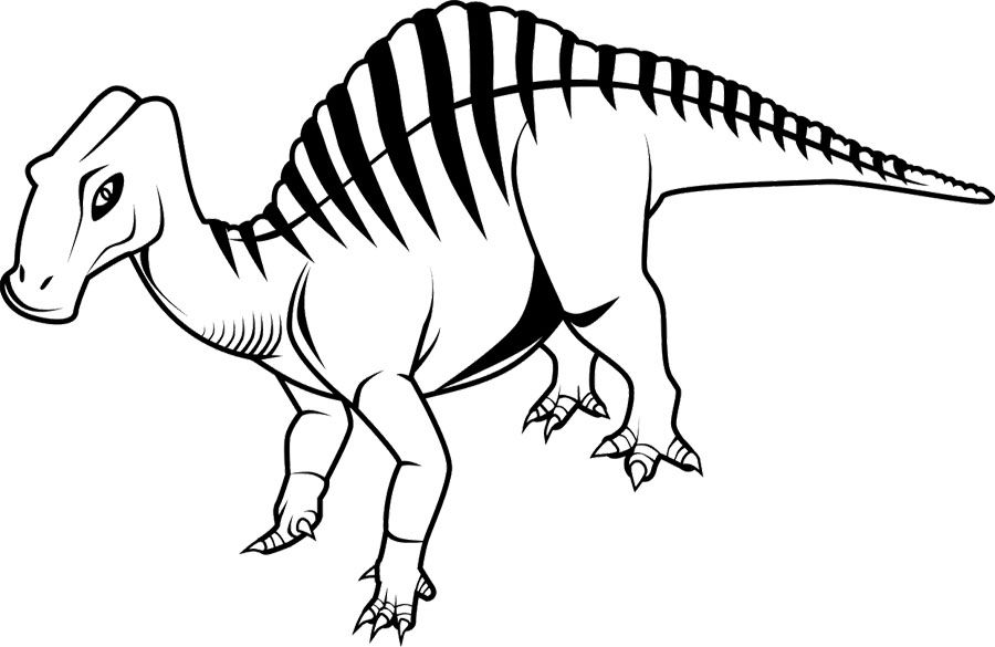 Ouranosaurus Coloring Page