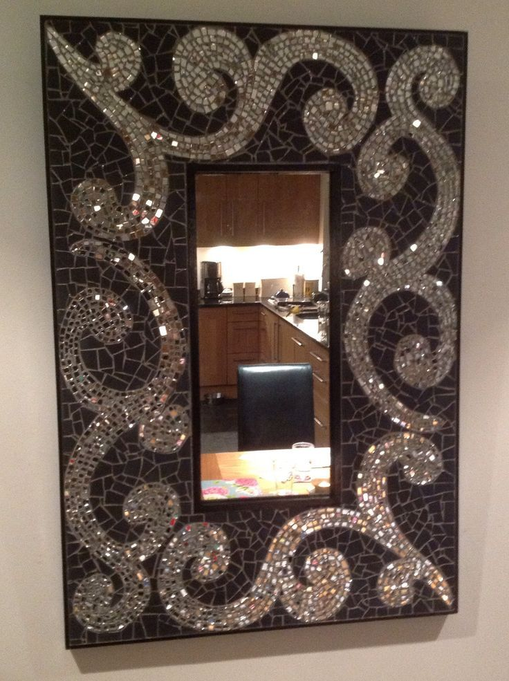 M s de 25 ideas incre bles sobre mosaiquismo espejos en for Espejos rectangulares plateados