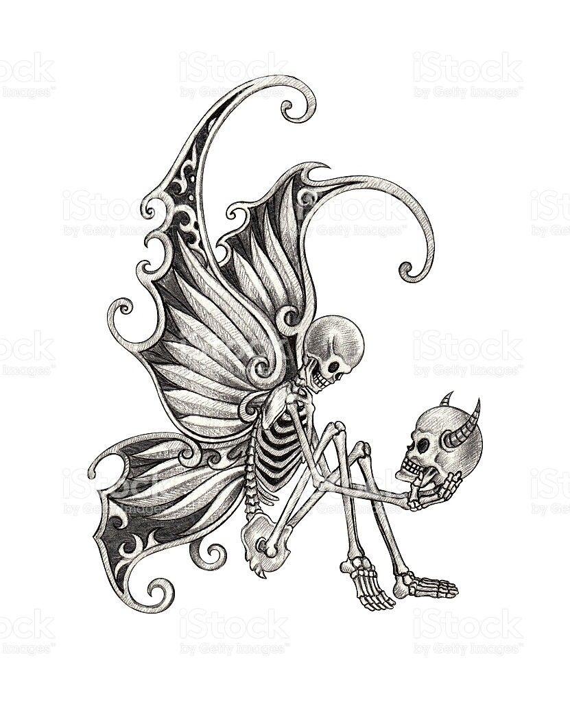 edd021f77 Skull Sketch, Wild Tattoo, Skull Butterfly Tattoo, Skull Hand Tattoo,  Butterfly Drawing