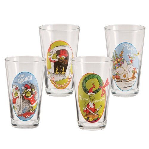 The Grinch Christmas 4pc Glass Set Stupid 2299 Give Me