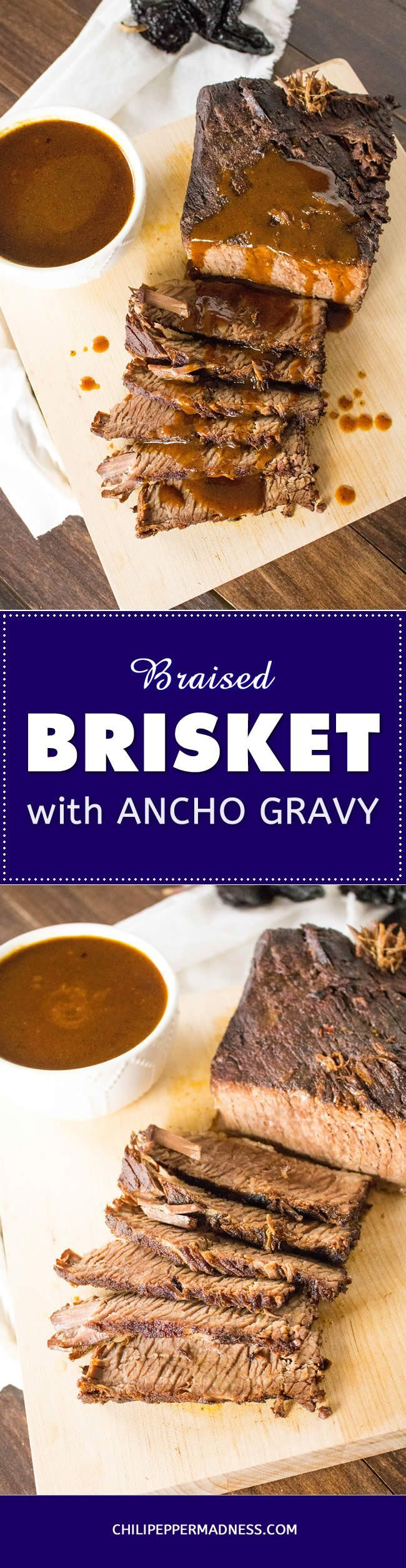 Braised Brisket with Ancho Gravy #texastwinkies