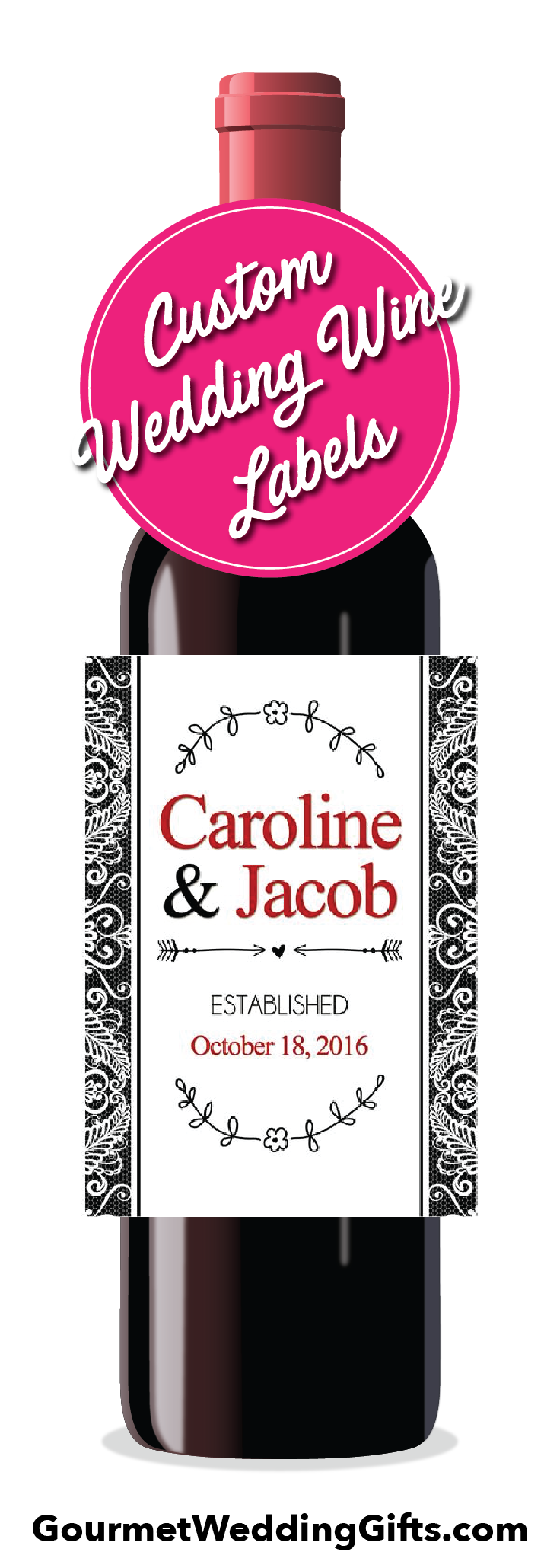 Personalized Wedding Wine Labels | Cheap wedding gifts, Favors and ...