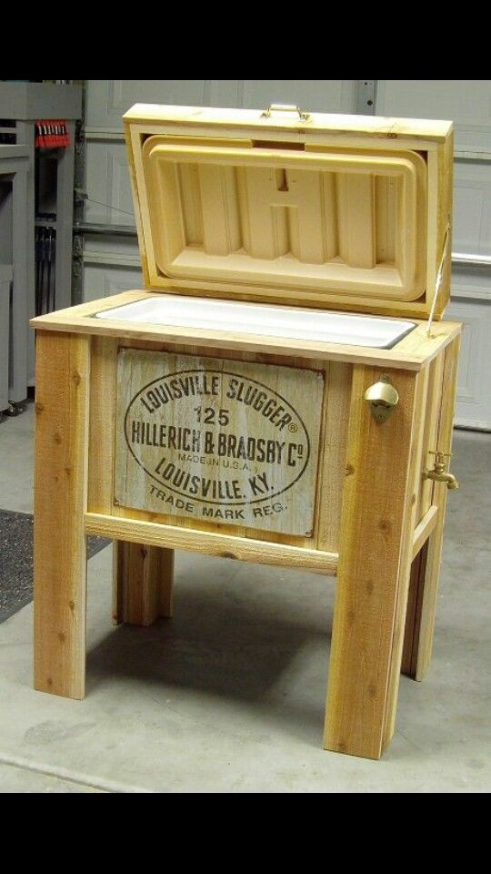 Wood Patio Cooler Plans: Pin By Stu Thompson On Hobbys