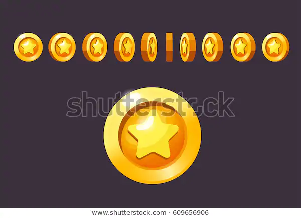 Coin Rotate Set Animation Vector Illustration Stock Vector
