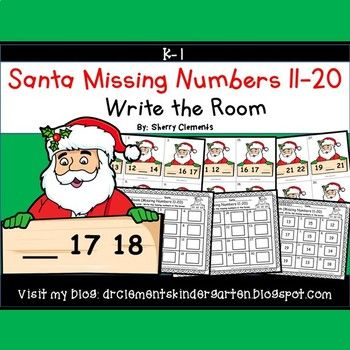 50% off 24 hrs Santa Write the Room (Missing Numbers 11-20)