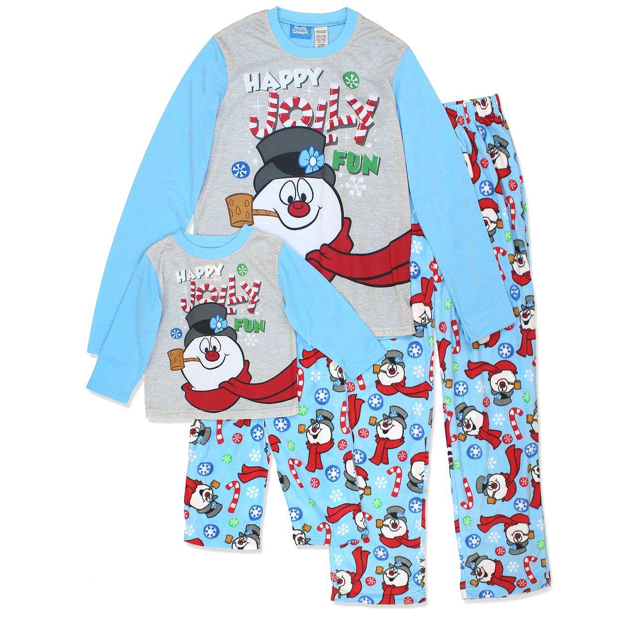 Frosty the Snowman Little Boys Christmas Holiday Family Pajama Set