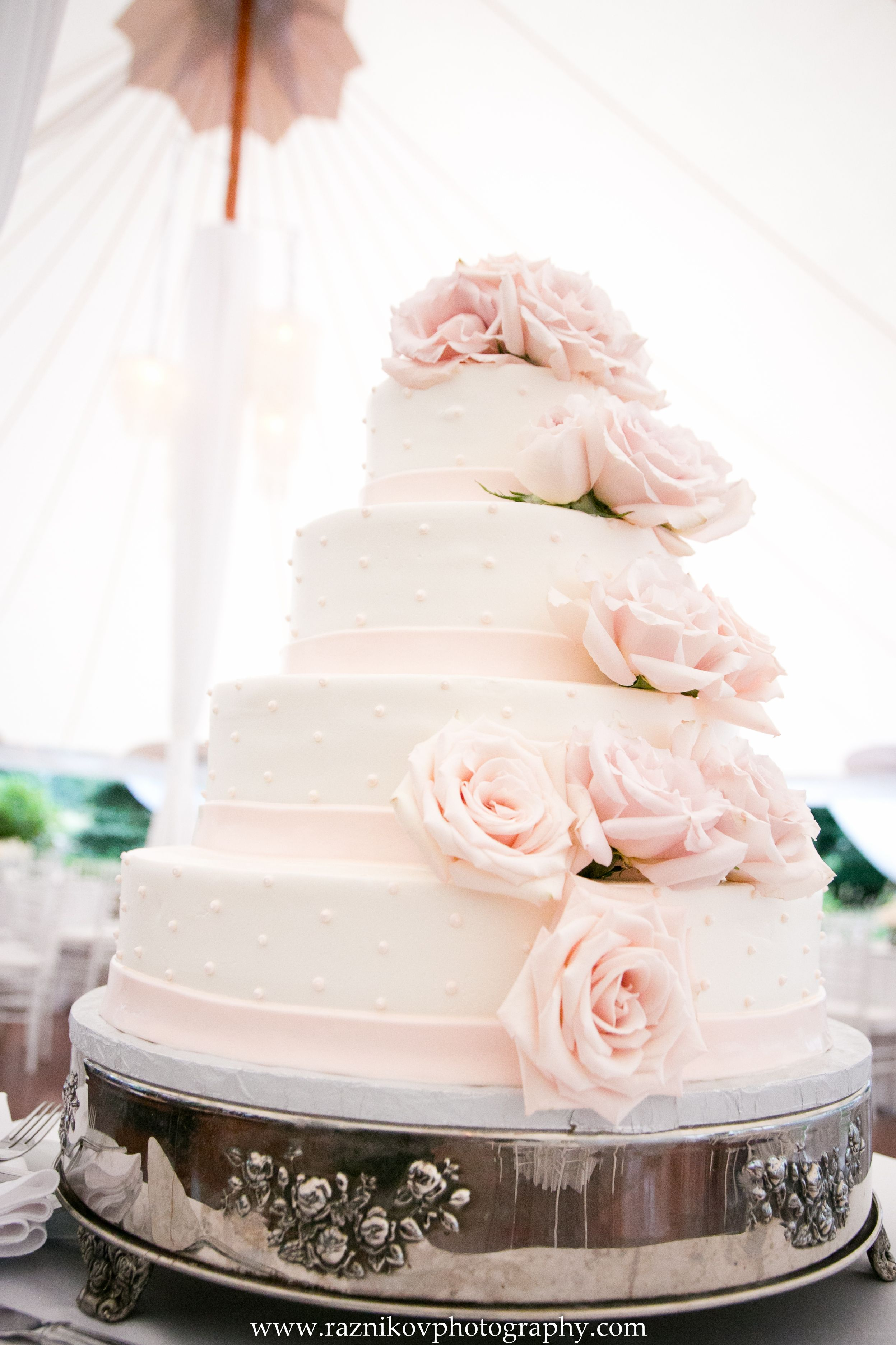 The elegant cake was made by Cakes for Occasions!