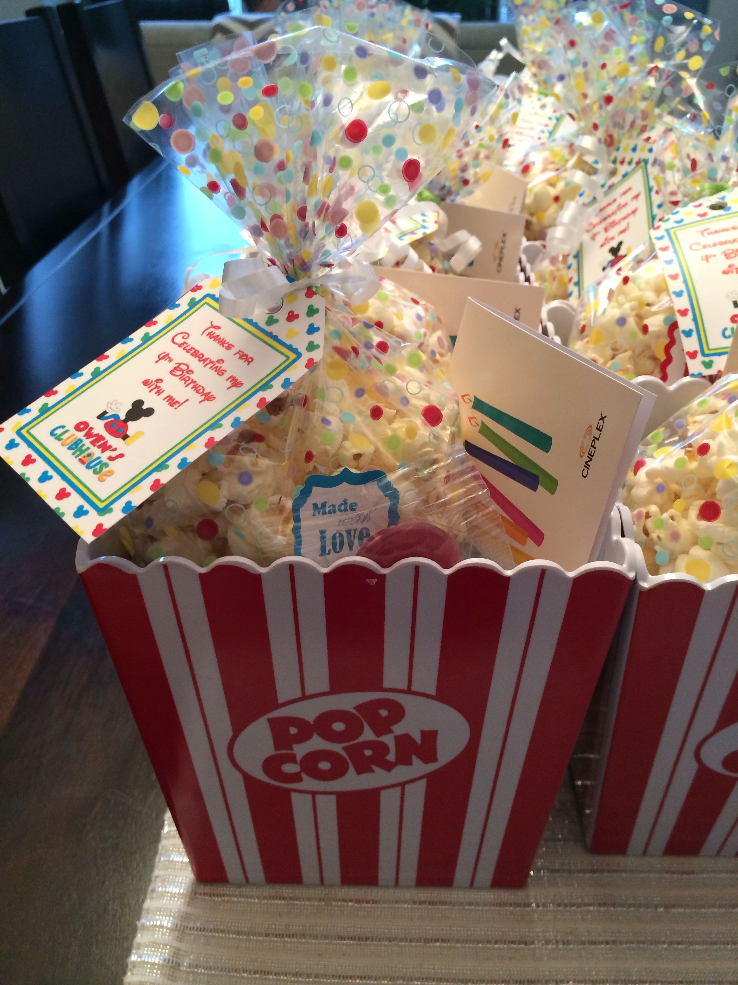 Birthday Loot Bag Movie Theme