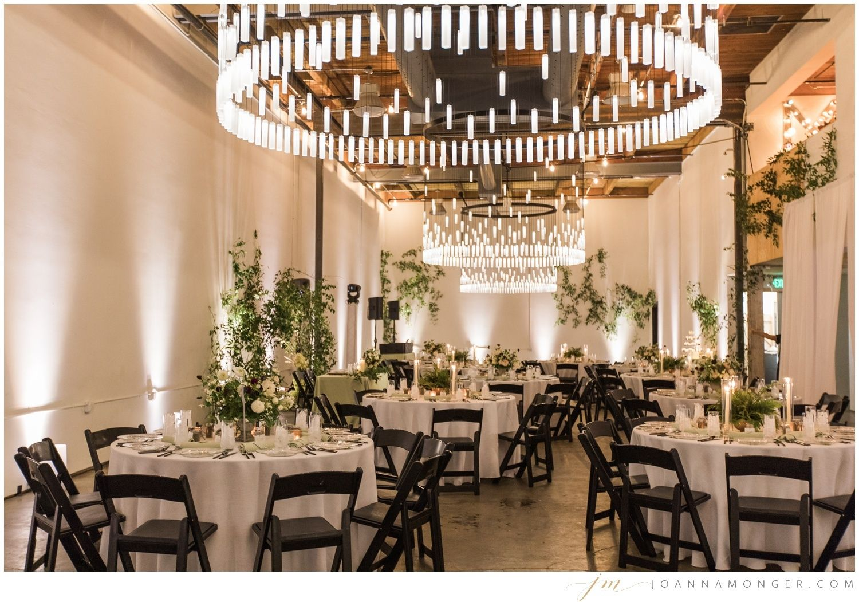 Beautiful elegant wedding decorations in SODO Seattle