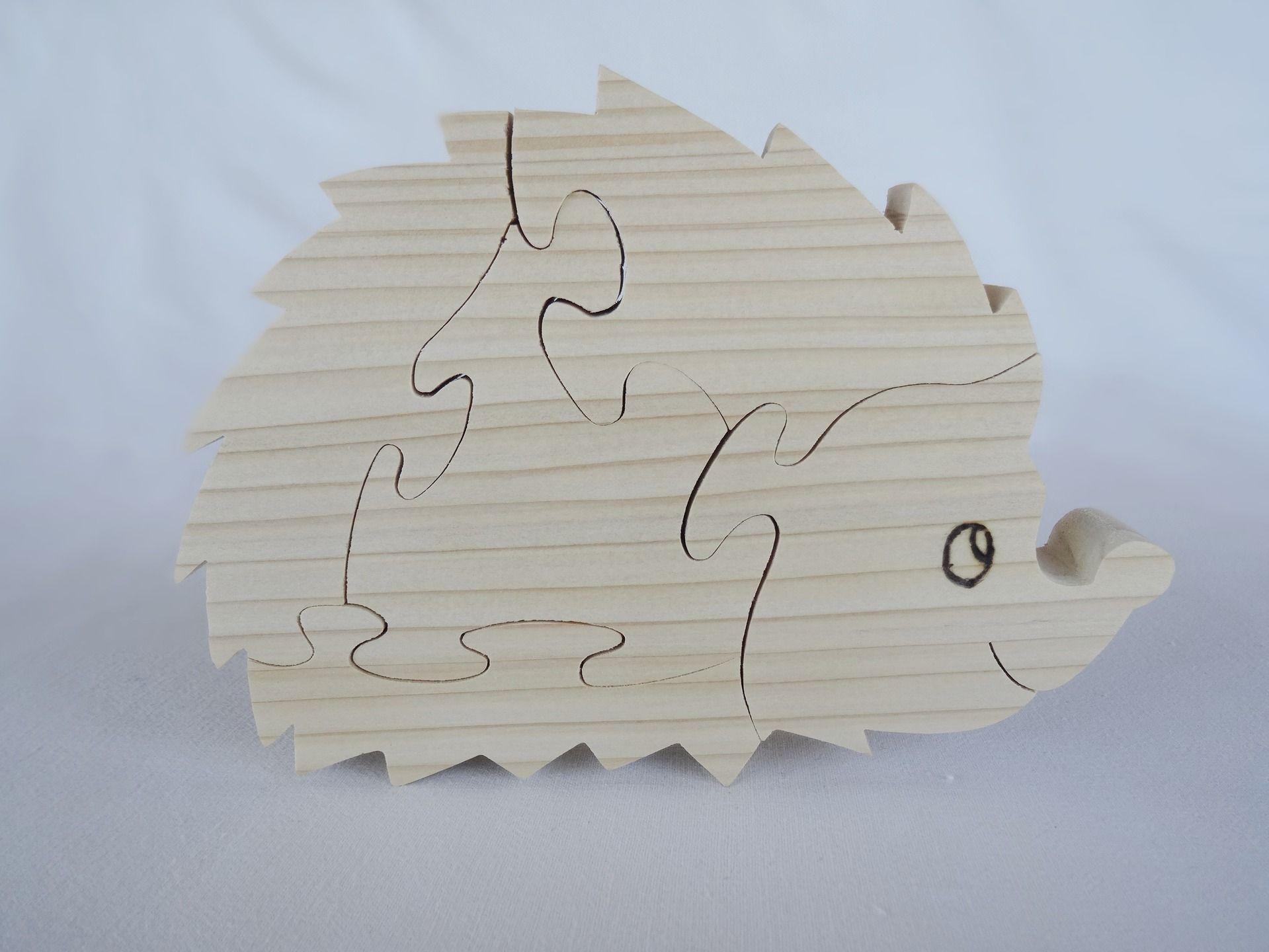 puzzle en bois h risson en pic a naturel d coup la. Black Bedroom Furniture Sets. Home Design Ideas