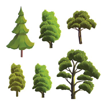 Creative Tree Collection Tree Vector Tree Png And Vector With Transparent Background For Free Download Vector Trees Creative Background Watercolor Trees