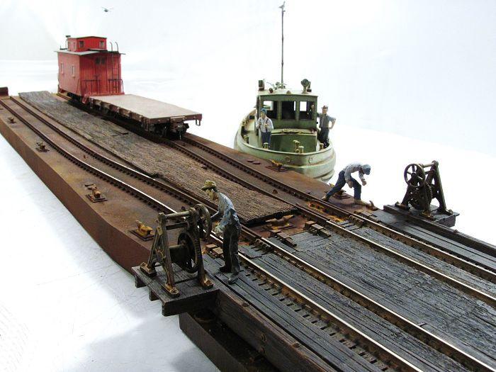 On30 1 48 Scale 2 Track Carfloat Model Train Scenery Model Trains Ho Scale Train Layout