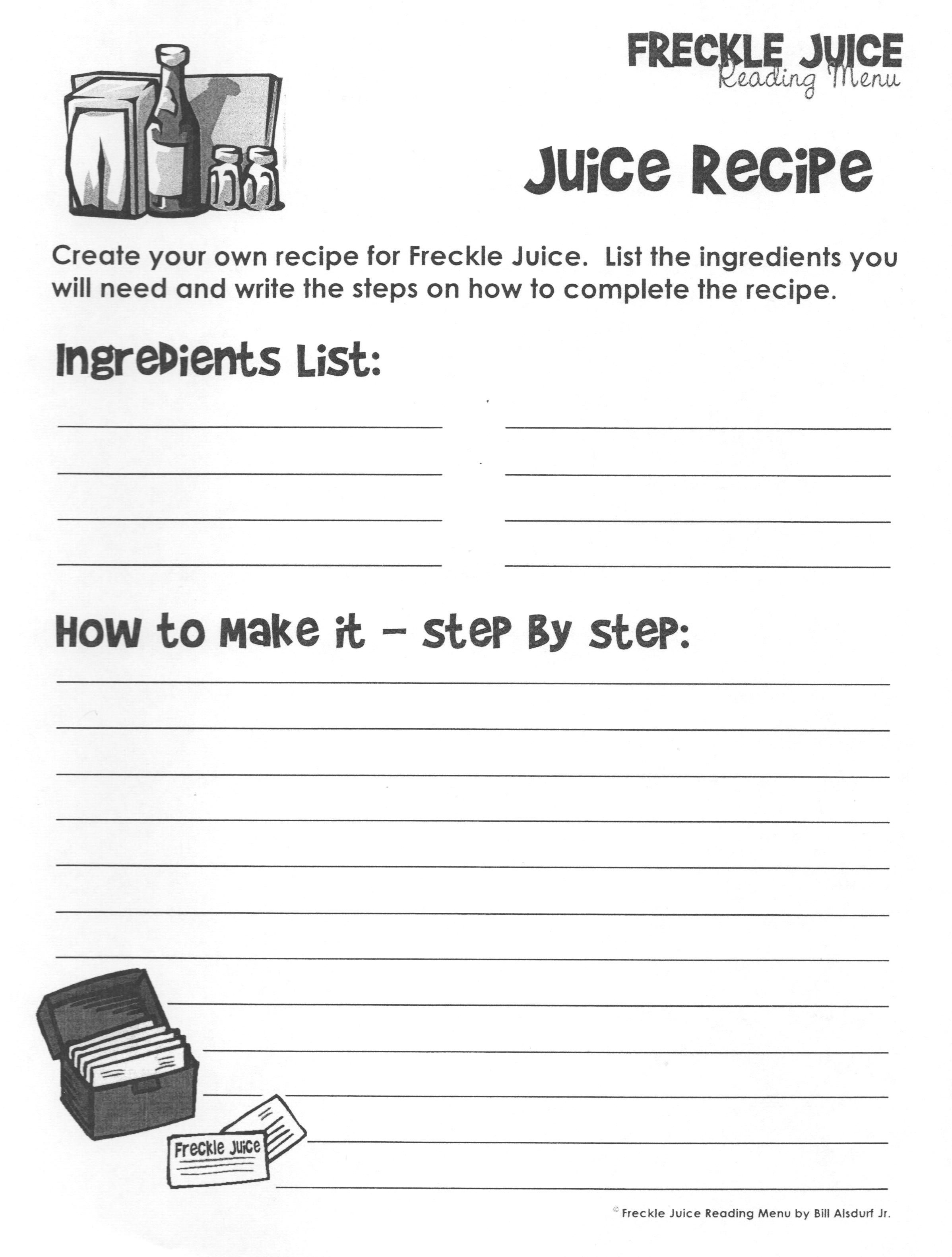Freckle Juice Recipe