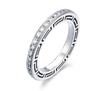 Versace Diamond Ring Style 59084r Material 18k 750 Gold White