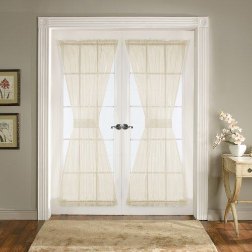 Lush Decor Breeze Door Panel 4 Piece 42 Inch By 72 Inch Ivory By Lush Decor 29 99 Measures 72 Inches Long X Lush Decor French Door Curtains Door Curtains