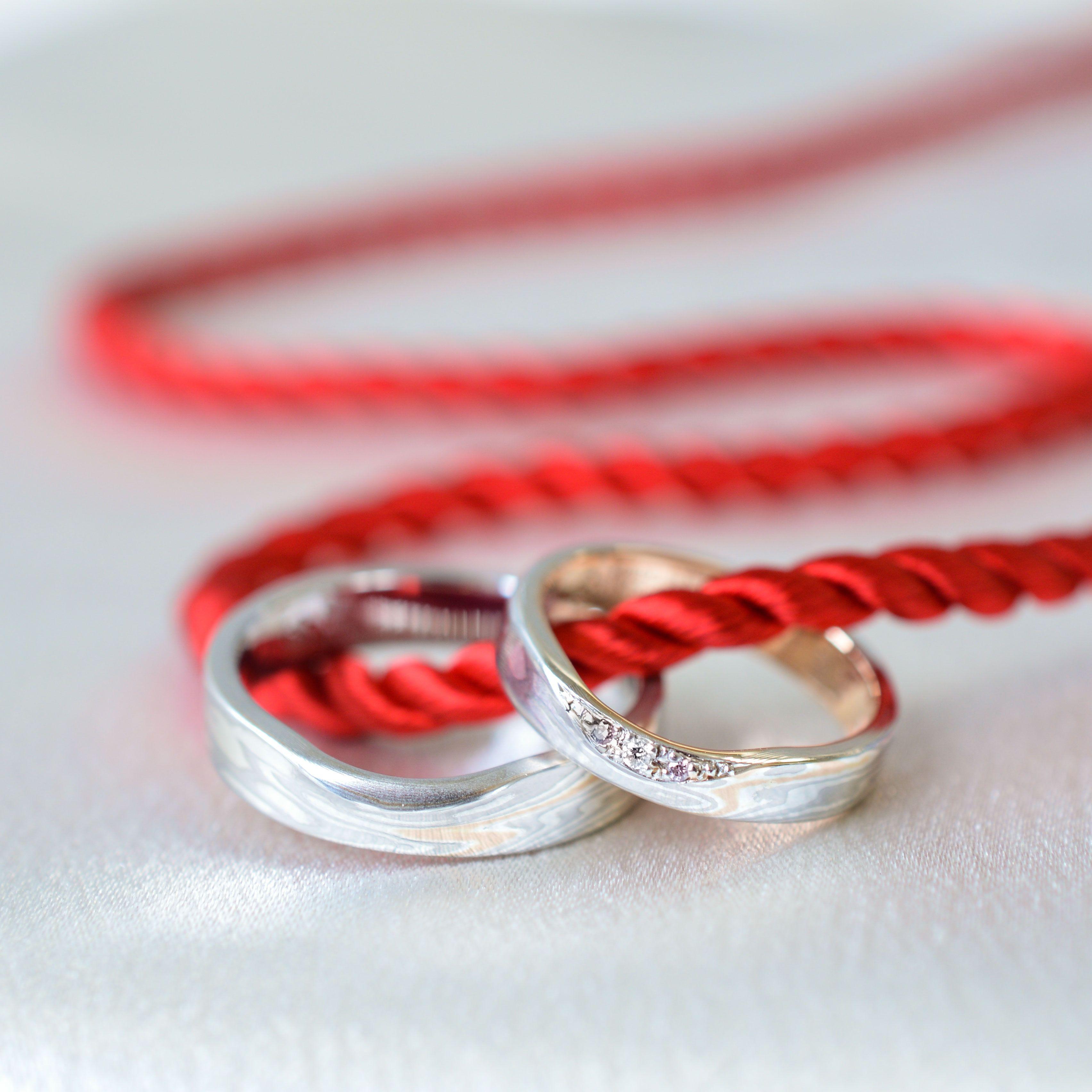 Mokumeganeya Wedding band [Beni-Hitosuji] | Rings | Pinterest ...