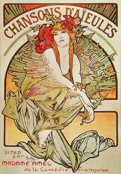 ❤ - Alphonse Mucha | Chansons d'aïeules - 1898.