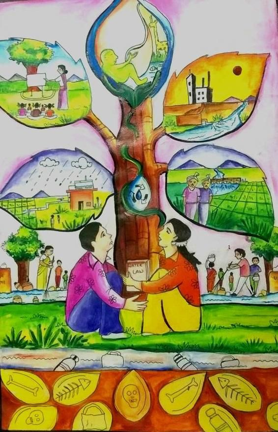 State Level Painting Competition Conducted - Water ...