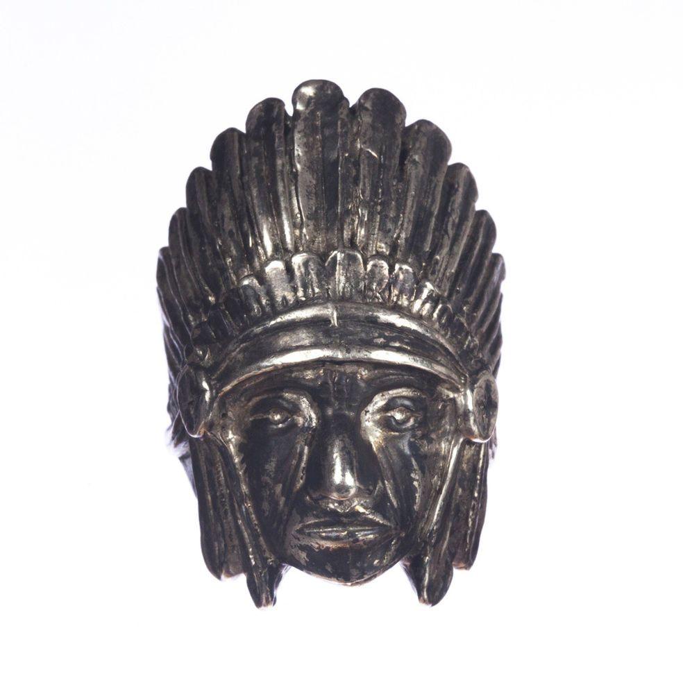 Native American Inspired Sterling Indian Chief Headdress Ring Alberto Juan #AlbertoJuan