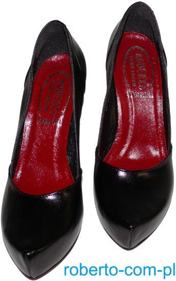 1508 Y Roberto Platforma Ps 361 D Czarne Duze Buty Damskie Producent Obuwia Roberto Fashion Shoes Clogs