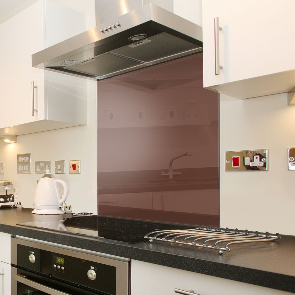 Customer ratings for Chocolate Brown - Toughened Glass Splashback ...