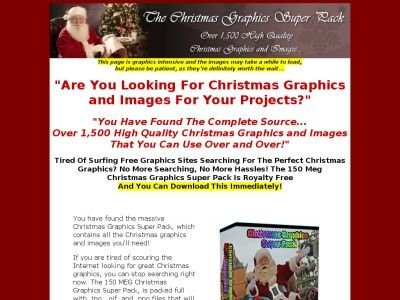 """Are You Looking For #Christmas Graphics and Images For Your Projects?"" ""You Have Found The Complete Source… Over 1,500 High Quality Christma..."