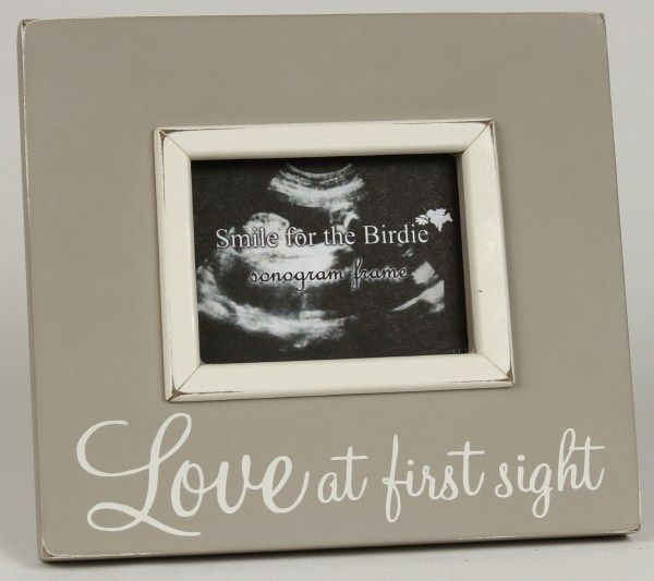 Love at First Sight Beige Sonogram Picture Frame at Jack and Jill ...