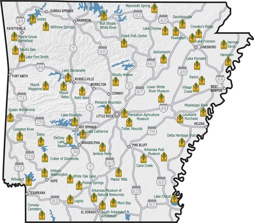 State Parks In Arkansas Map.Arkansas Has 52 State Parks To Explore Plan Your Next Adventure At