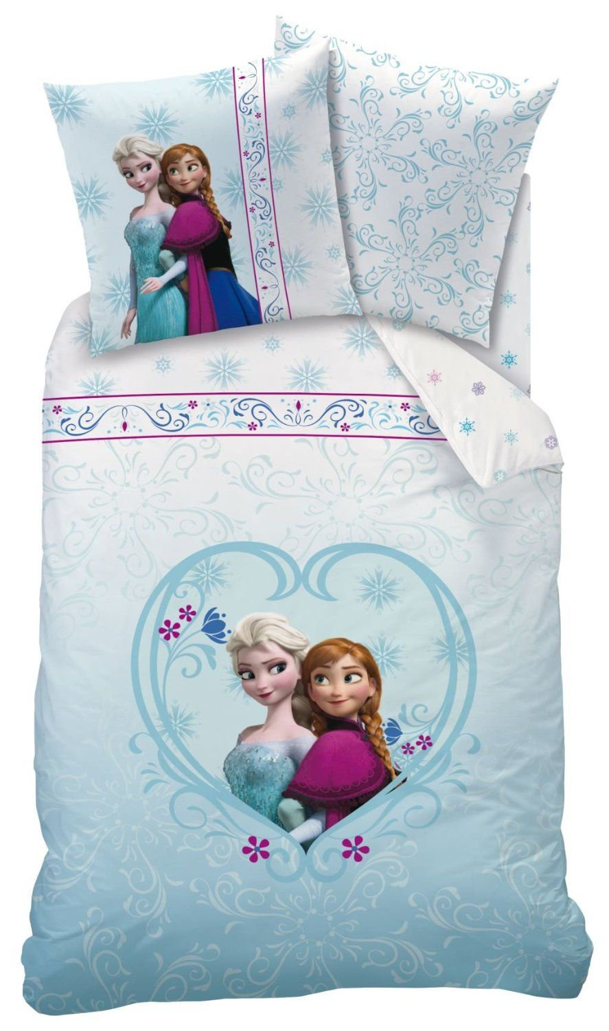 Cti 42936 Bettwasche Disney Frozen Eiskonigin 135x200 80x80cm 100