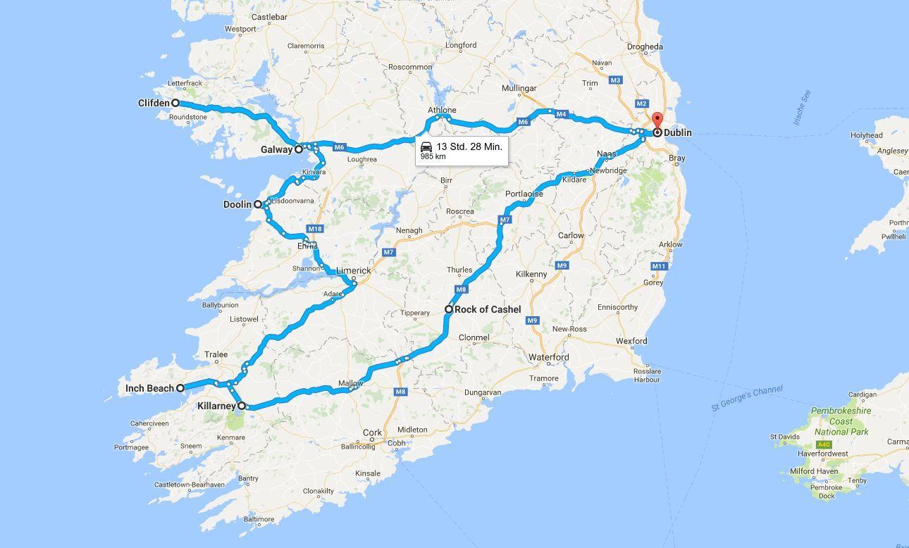 Irland Sehenswurdigkeiten An Der Westkuste Reiseroute Irland