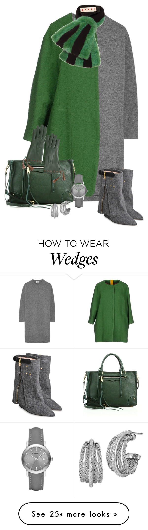 """""""2457"""" by mljilina on Polyvore featuring Acne Studios, Michele Rossi, Jérôme Dreyfuss, Rebecca Minkoff, Marni, Overland Sheepskin Co., Burberry and Charriol"""