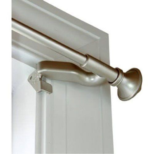 Kenney 7004244450 Twist And Fit Curtain Rod With Petal 28 To 48 Inch Width Satin Nickel Learn More Curtain Rods Window Coverings Custom Window Coverings