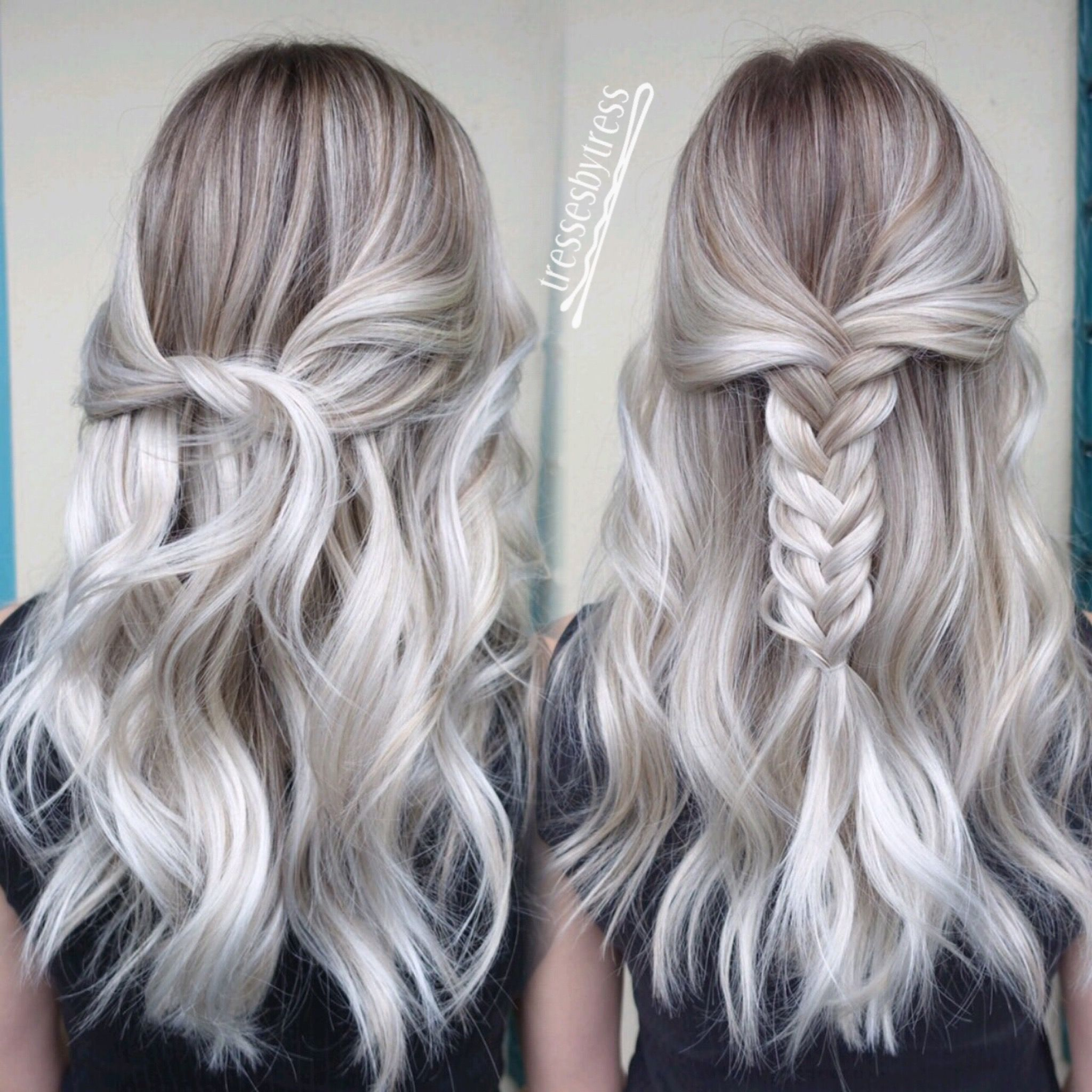 platinum white blonde balayage ombre balayage pinterest haar haarfarbe und frisur. Black Bedroom Furniture Sets. Home Design Ideas