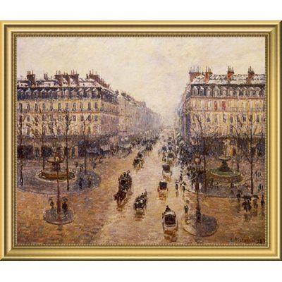 East Urban Home The Avenue De LOpera Framed Oil Painting Print Size
