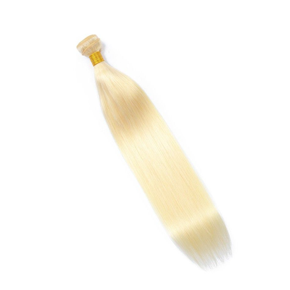 Blonde Straight Sew-In Malaysian Human Hair Extension #humanhairextensions