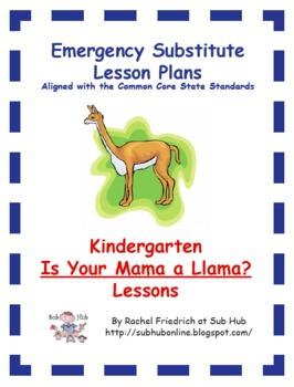 Kindergarten CCSS Emergency Sub Plans #emergencysubplans