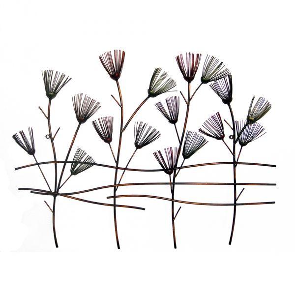 Metal Wall Art Flowers metal wall art :: flowers, leaves & trees :: spiky reeds metal